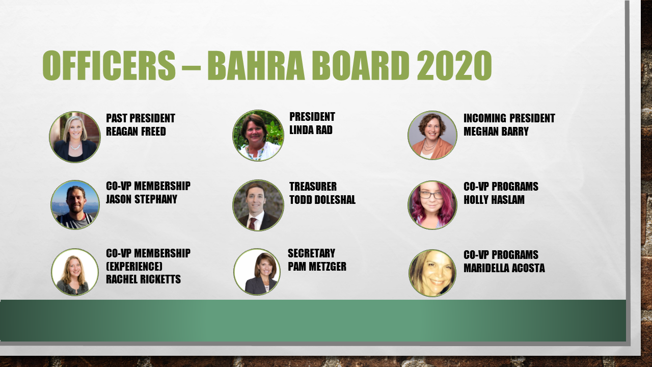 BAHRA Board Officers